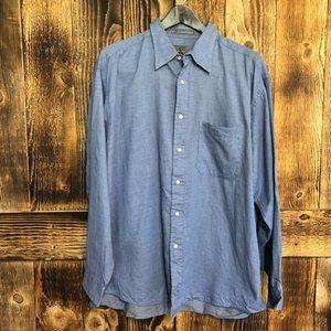 Calvin Klein Men's Blue Button Up Dress Shirt-17.5